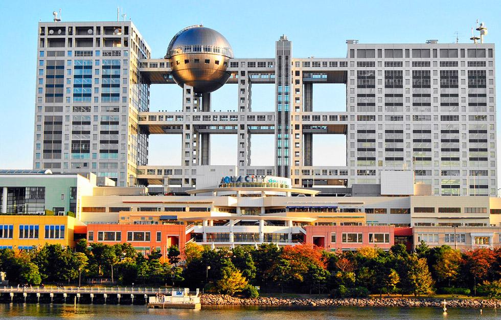Кензо Танге. Токио Здание Fuji TV, район Одайба