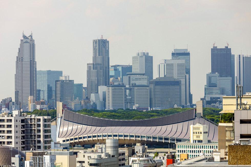 Кензо Танге. Стадион Yoyogi Gymnasium, Токио, 1964 г.
