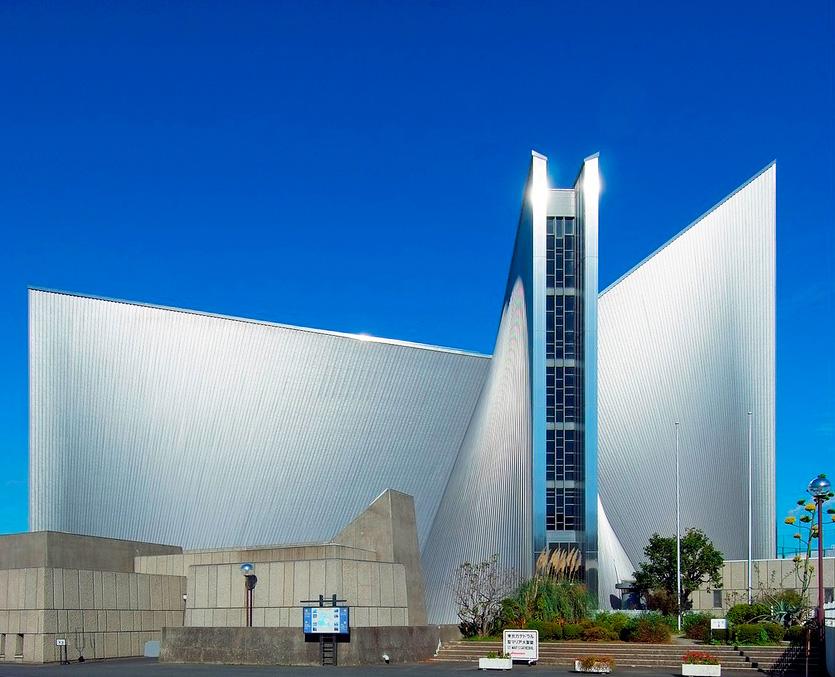 Кензо Танге. Собор Пресвятой Девы Марии, Токио (1964)
