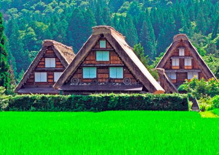 Японский традиционный дом. Всемирное наследие Гассё-дзукури