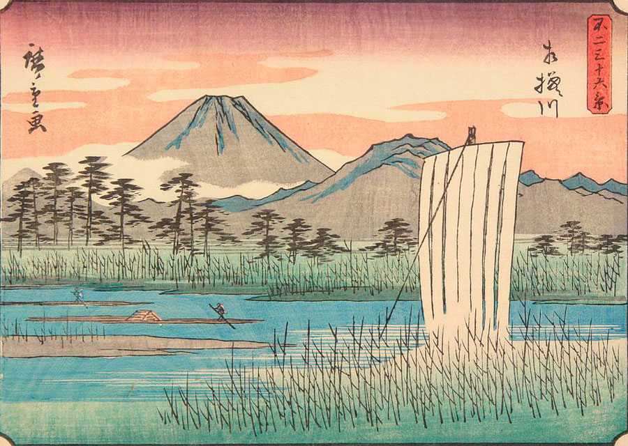 Утагава Хиросигэ Река Сагами