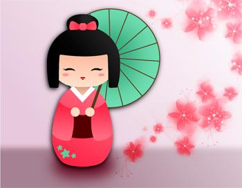 Японские деревянные куклы кокэси