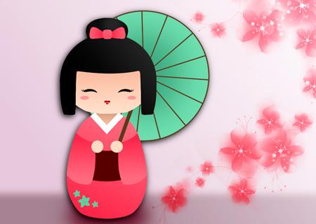 Кокэси – традиционные японские деревянные куклы