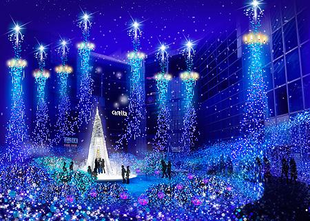 8 мест красивейшей рождественской иллюминации в Токио