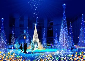 Рождественская иллюминация в Токио, Новый год