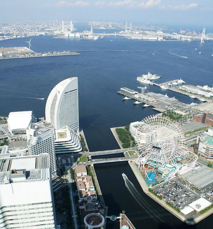 Йокогама Япония. Порт Мираи мирай