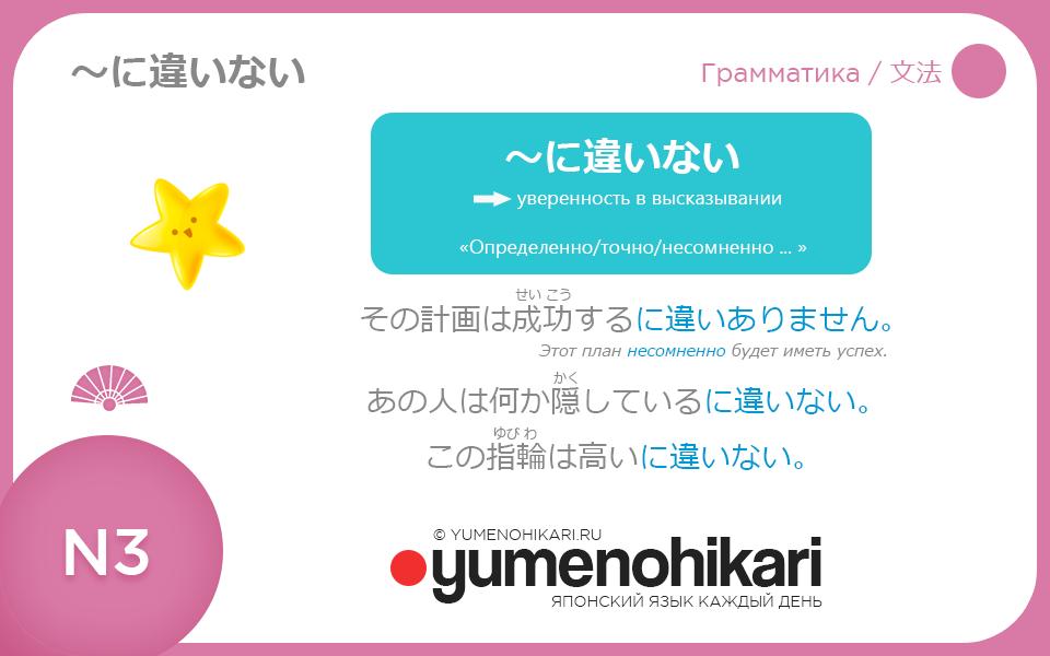 Японский язык для N3 Грамматическая конструкция