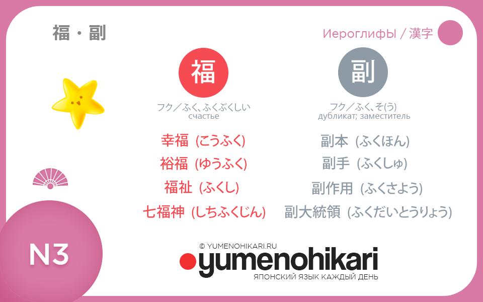 Японский язык иероглифы для N3